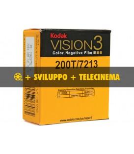 Negativo Colore Kodak Vision3 200T, 7213 + sviluppo + telecinema in HD