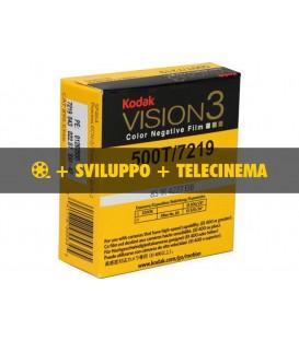 Negativo Colore Kodak Vision3 500T, 7218 + sviluppo + telecinema in HD