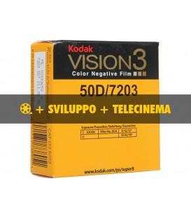 Kodak Vision 50D + sviluppo + telecinema in HD